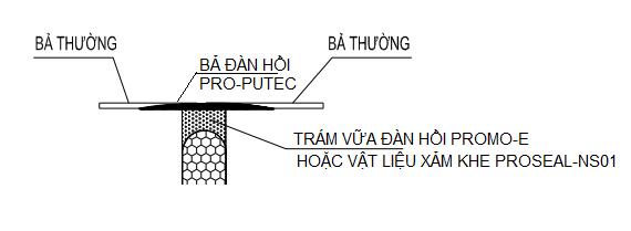 Hình 3: Biện pháp thi công mối nối đàn hồi (khe co giãn)